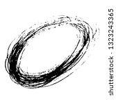sketch scribble smear ellipse... | Shutterstock .eps vector #1323243365