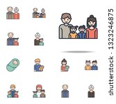 family cartoon icon. family...   Shutterstock .eps vector #1323246875