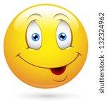 smiley vector illustration  ... | Shutterstock .eps vector #132324962