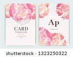 wedding invitation  floral... | Shutterstock .eps vector #1323250322