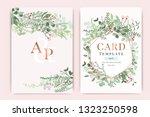 wedding invitation  floral...   Shutterstock .eps vector #1323250598