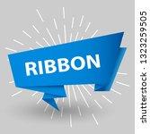 blue ribbon baner icon ribbon... | Shutterstock .eps vector #1323259505