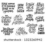 large set of hand lettered... | Shutterstock .eps vector #1323260942