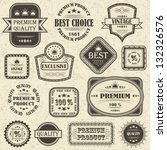 vector set of retro labels and... | Shutterstock . vector #132326576