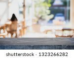 empty black marble stone table... | Shutterstock . vector #1323266282