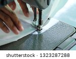 sewing machine close up  ... | Shutterstock . vector #1323287288