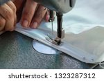 sewing machine close up  ... | Shutterstock . vector #1323287312