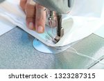 sewing machine close up  ... | Shutterstock . vector #1323287315