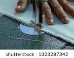 sewing machine close up  ... | Shutterstock . vector #1323287342