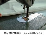 sewing machine close up  ... | Shutterstock . vector #1323287348