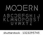 font logo. modern design vector ...   Shutterstock .eps vector #1323295745