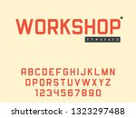 vector latin uppercase alphabet ... | Shutterstock .eps vector #1323297488
