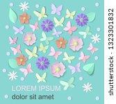 spring floral background for...   Shutterstock .eps vector #1323301832