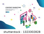 content marketing isometric... | Shutterstock .eps vector #1323302828
