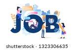 freelance character modern job...   Shutterstock .eps vector #1323306635