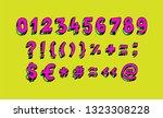 bright arabic numerals. vector. ... | Shutterstock .eps vector #1323308228