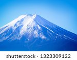 close up view of mt. fuji peak | Shutterstock . vector #1323309122