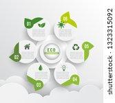 modern green ecology design... | Shutterstock .eps vector #1323315092