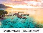 luxury travel vacation aerial...   Shutterstock . vector #1323316025