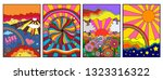 hippie style from the 1960s... | Shutterstock .eps vector #1323316322