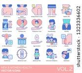 men and women health icons... | Shutterstock .eps vector #1323336602