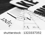 newspapers with headlines and... | Shutterstock . vector #1323337352