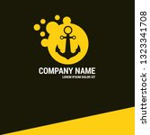 chain boat anchor logo concept. ...