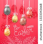 easter greeting card. easter... | Shutterstock .eps vector #1323342668