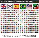 all national flags of the world ... | Shutterstock .eps vector #1323347318