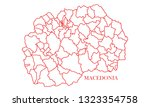 macedonia red line map | Shutterstock .eps vector #1323354758