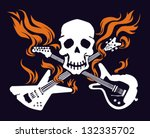 skull with crossed flaming... | Shutterstock .eps vector #132335702