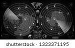 detailed dark military radar... | Shutterstock .eps vector #1323371195
