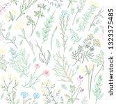 hand drawn sketch variegated... | Shutterstock . vector #1323375485