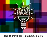 light bulb brain   creative... | Shutterstock .eps vector #1323376148