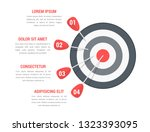 target with four arrows with... | Shutterstock .eps vector #1323393095