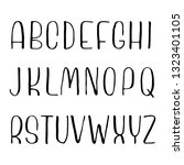 hand drawn font made by ink... | Shutterstock .eps vector #1323401105