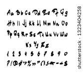 handwritten alphabet. vector... | Shutterstock .eps vector #1323404258