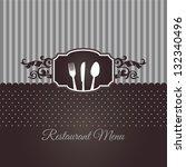 restaurant menu cover in... | Shutterstock .eps vector #132340496