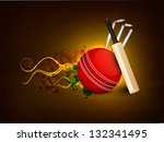 sports concept with cricket... | Shutterstock .eps vector #132341495