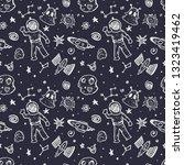 space seamless pattern. vector  ... | Shutterstock .eps vector #1323419462