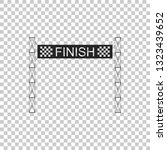 ribbon in finishing line icon... | Shutterstock .eps vector #1323439652