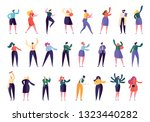 different character business... | Shutterstock .eps vector #1323440282