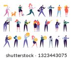 collection creative various... | Shutterstock .eps vector #1323443075