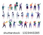 different character set design... | Shutterstock .eps vector #1323443285