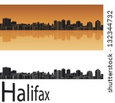 halifax skyline in orange... | Shutterstock .eps vector #132344732