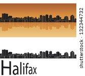 halifax skyline in orange... | Shutterstock .eps vector #132344732