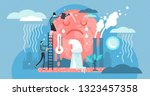 climate change vector... | Shutterstock .eps vector #1323457358
