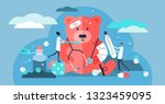 pediatric vector illustration.... | Shutterstock .eps vector #1323459095