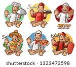set chef italian mexican... | Shutterstock .eps vector #1323472598