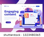 landing page template of... | Shutterstock .eps vector #1323480365